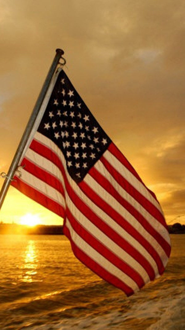 Patriotic American Flag iPhone Wallpaper