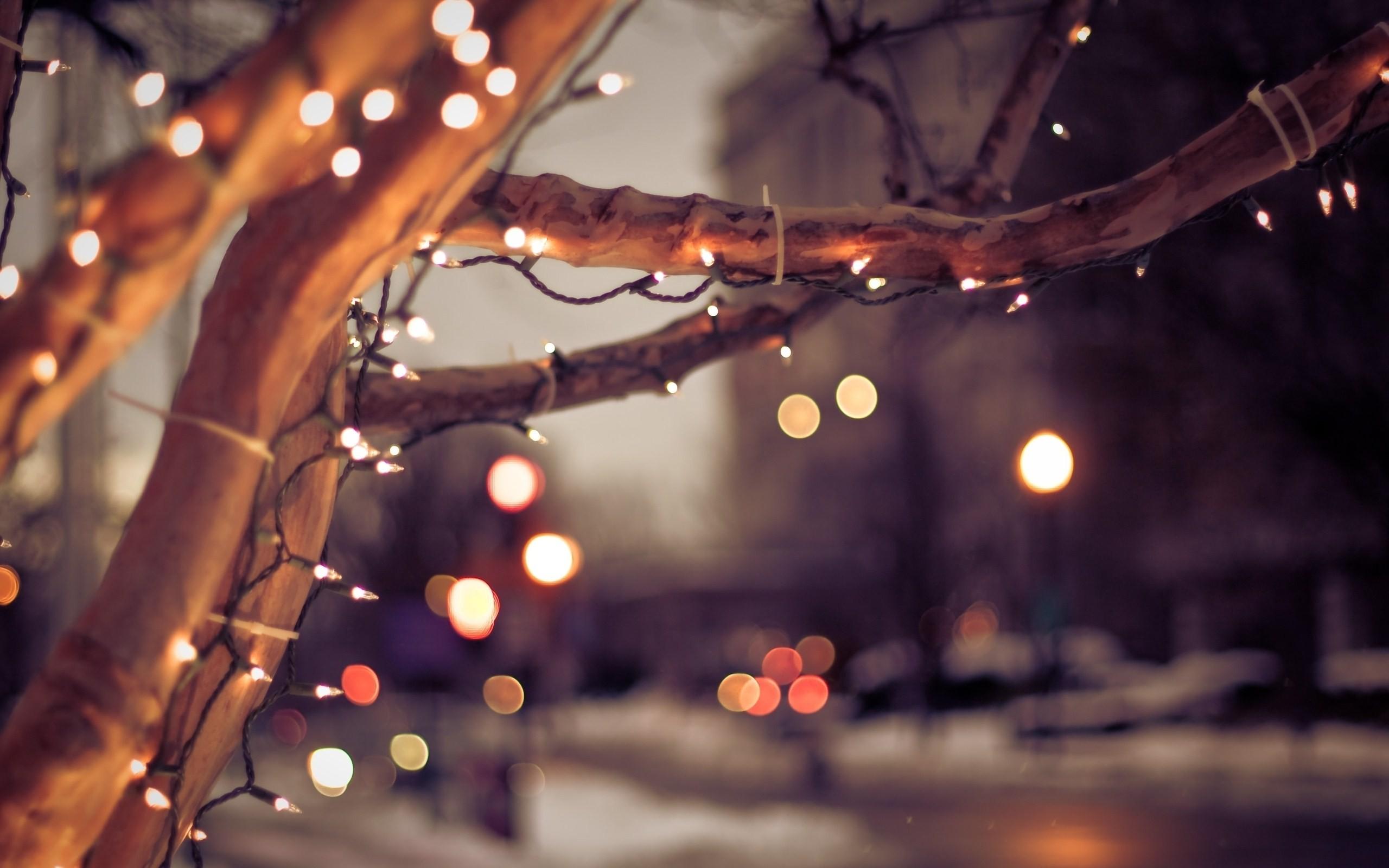 white christmas lights wallpaper