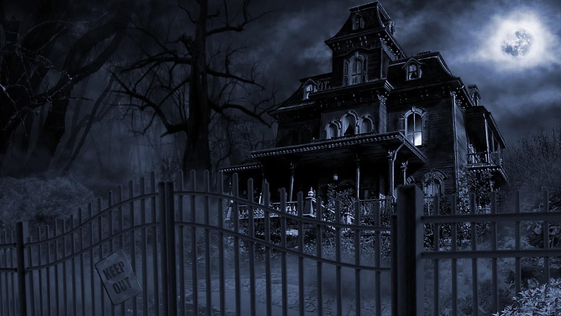 haunted house wallpaper for computer (48+ images)