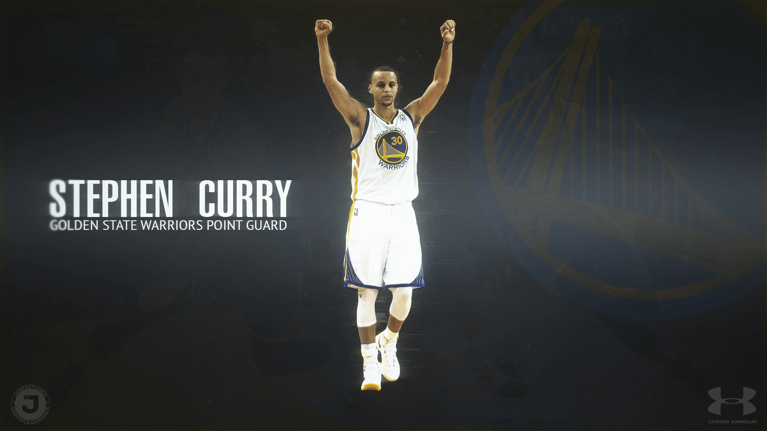 Wallpaper Under Steph Armour Curry