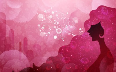 pink cute wallpapers woman desktop nature vector