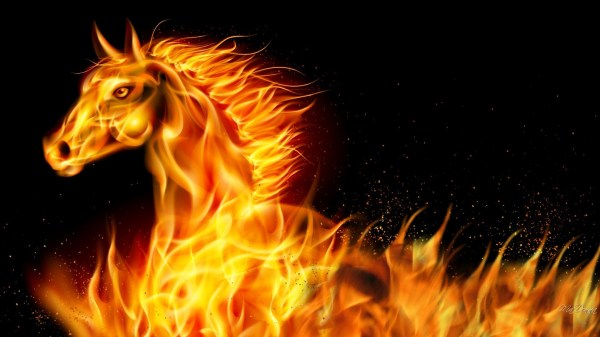 Fire Flaming Horse