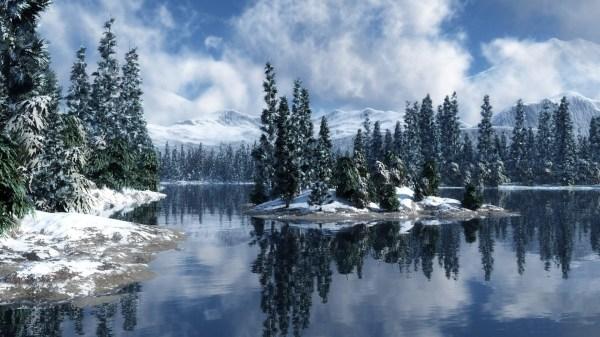 Winter Wonderland Snow Desktop Background