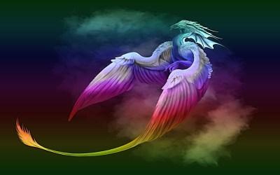 dragons cool dragon rainbow phoenix fantasy phone
