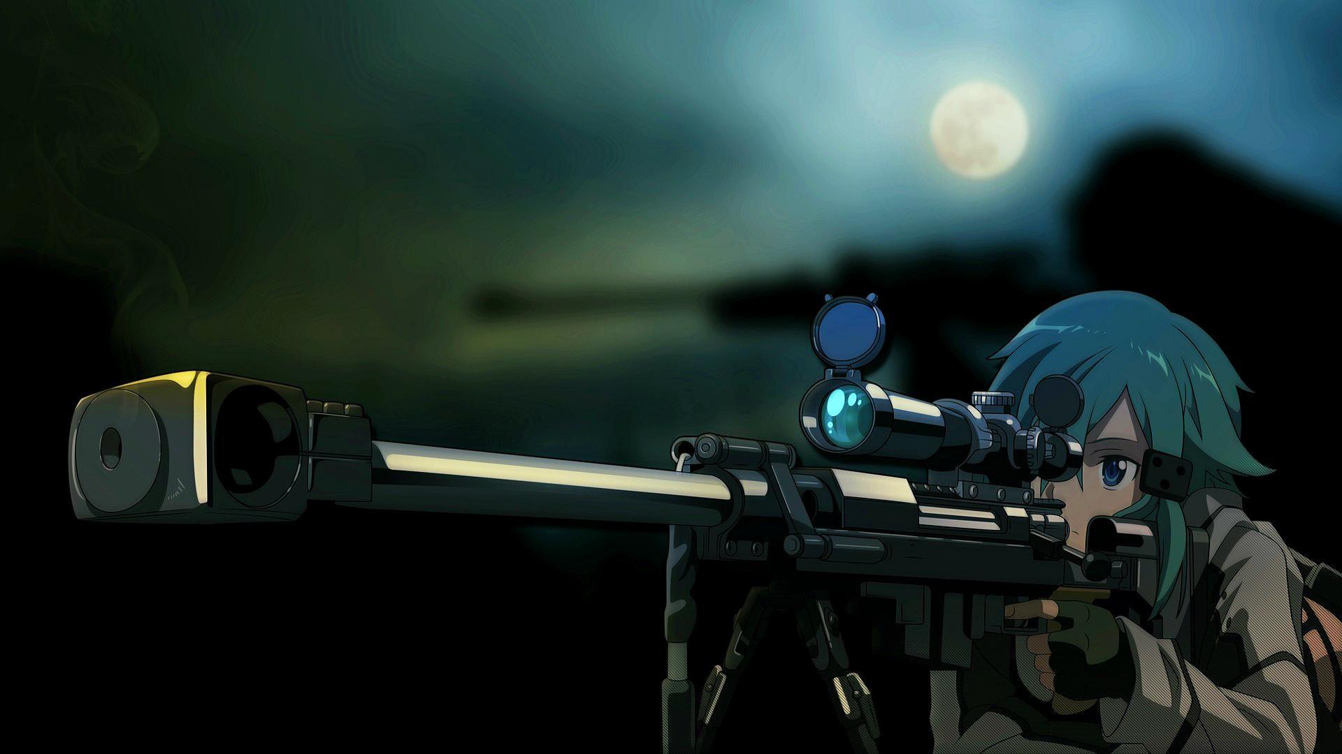 Epic Girl With Gun Wallpaper Anime Sniper Wallpaper 62 Images
