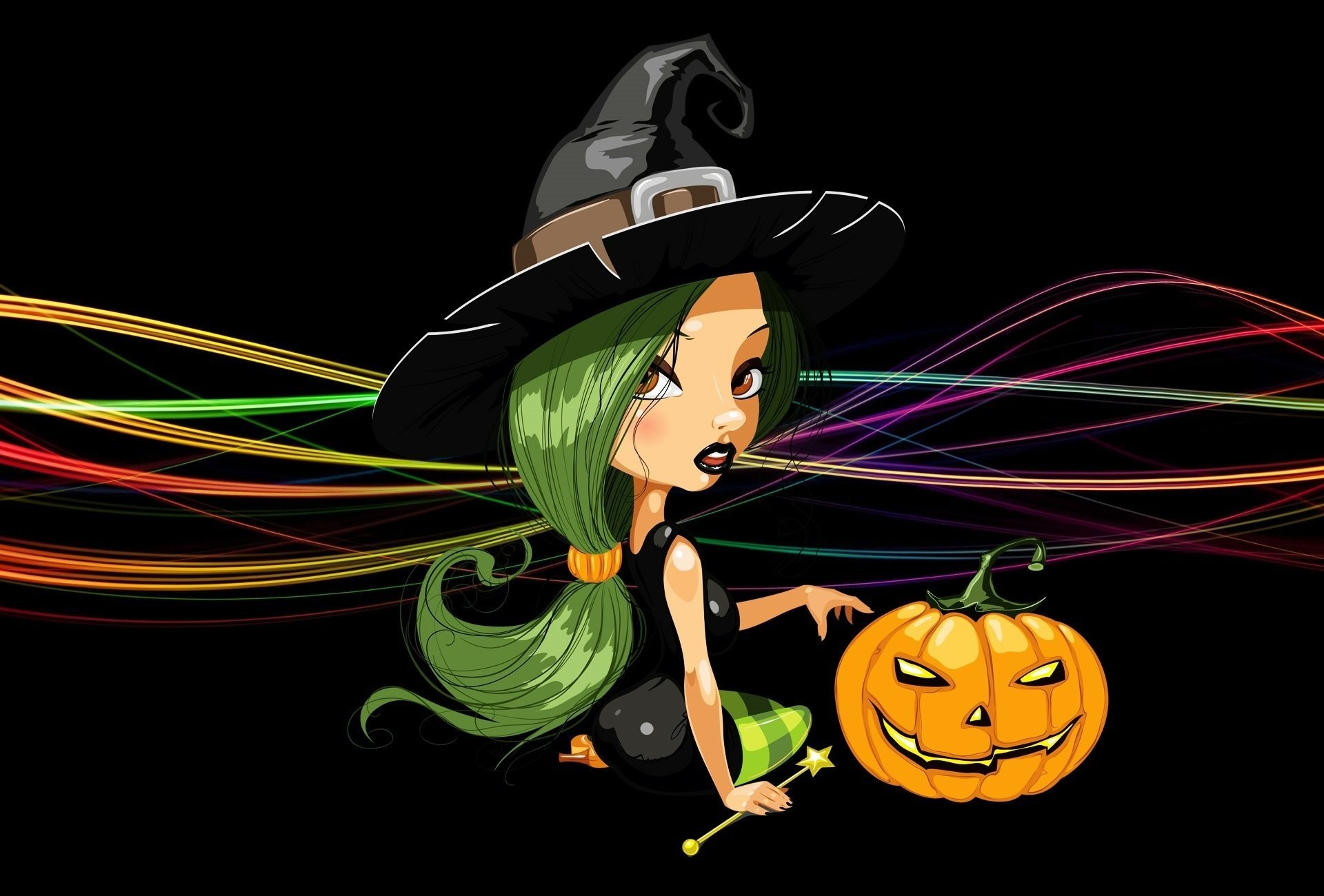 Simple Girl Wallpapers 2010 Halloween Witch Wallpapers 58 Images