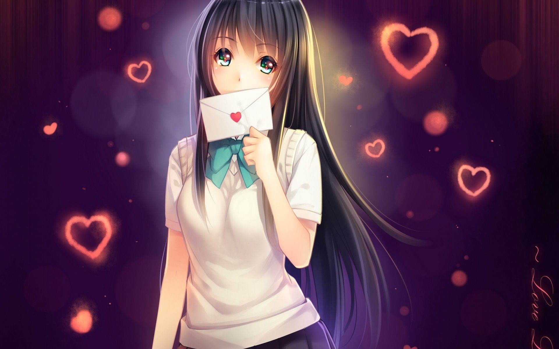 Cute Couple Kissing Wallpaper Download Anime Love Wallpaper 78 Images