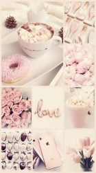 girly pink cute wallpapers aesthetic collage iphone backgrounds gold rose pantalla fondos makeup paris pastel fondo rosa background pretty things