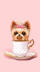 cute wallpapers yorkie iphone apple girly paris backgrounds jojo background teacup puppy yorkshire dog pink siwa perro phone halloween fondos