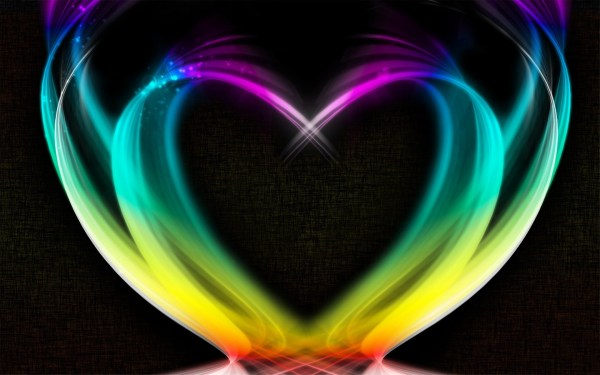 Rainbow Heart Desktop Wallpaper