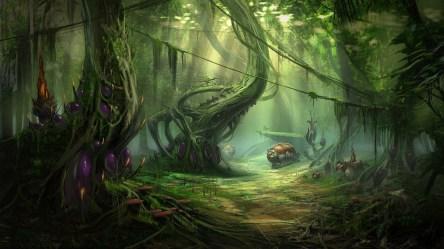 alien landscapes fantasy jungle forest planets nature wallpapers hd desktop