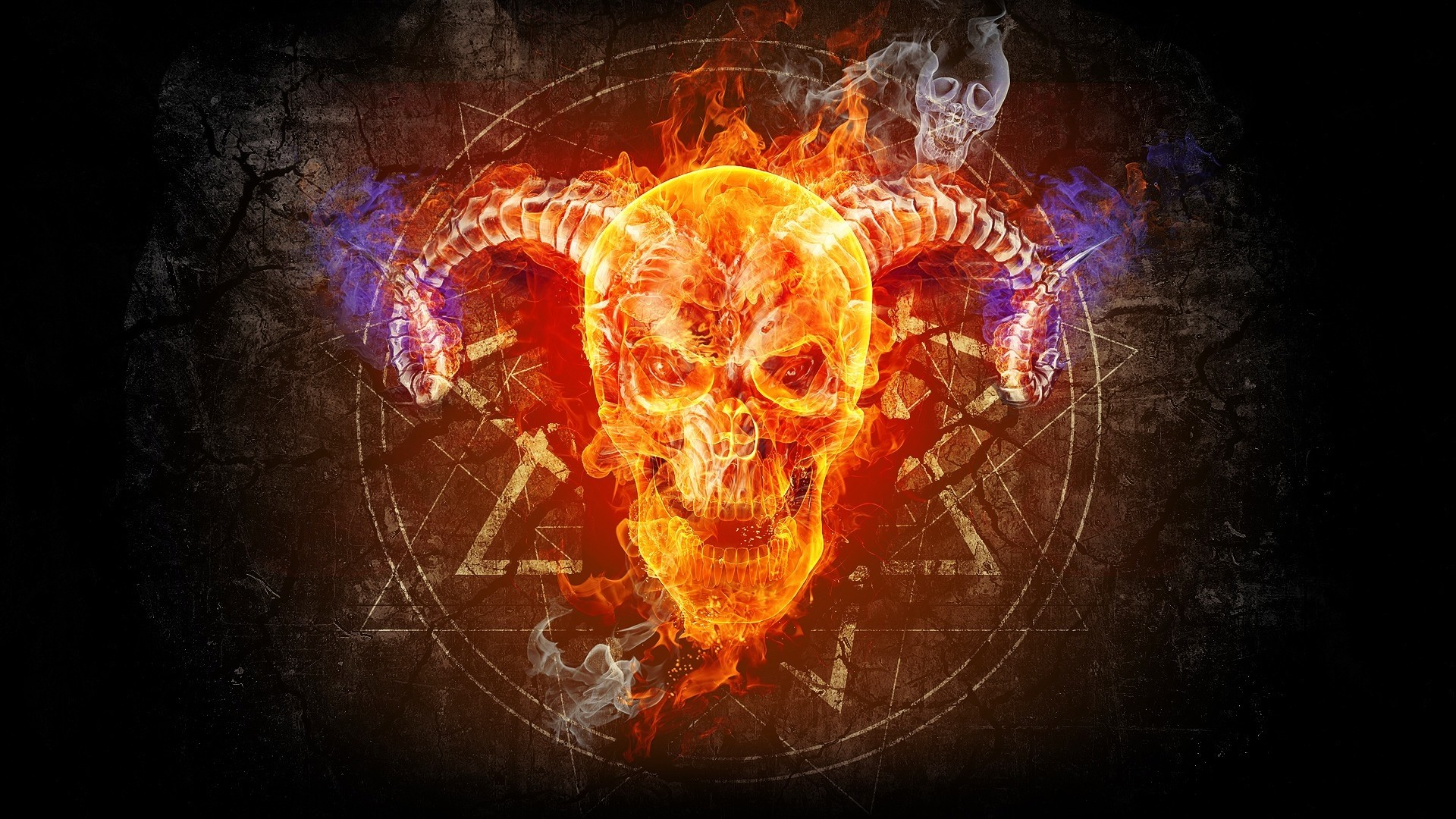 Red Flaming Skull Wallpaper 62 Images