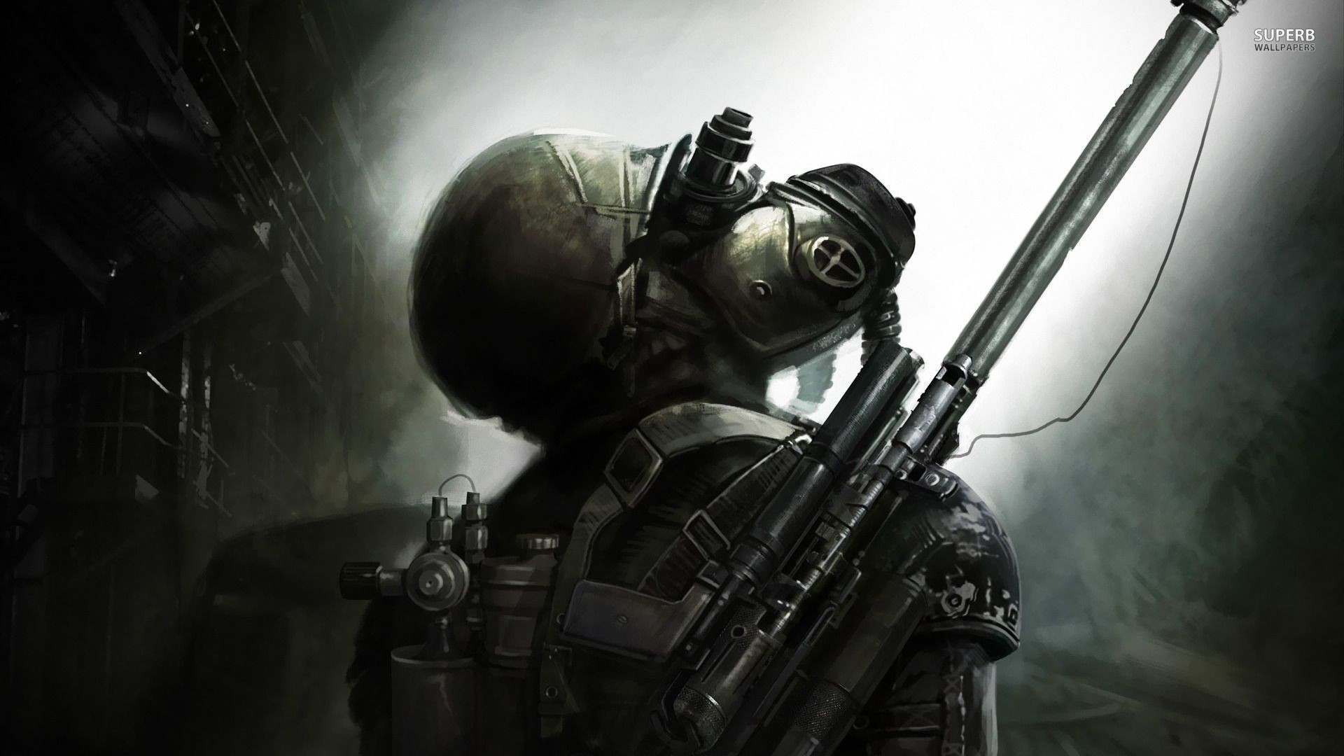 Gas Mask Wallpaper For Iphone Metro 2033 Wallpaper Iphone 72 Images