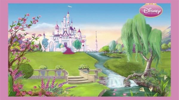 Disney Princess Castle Cartoon