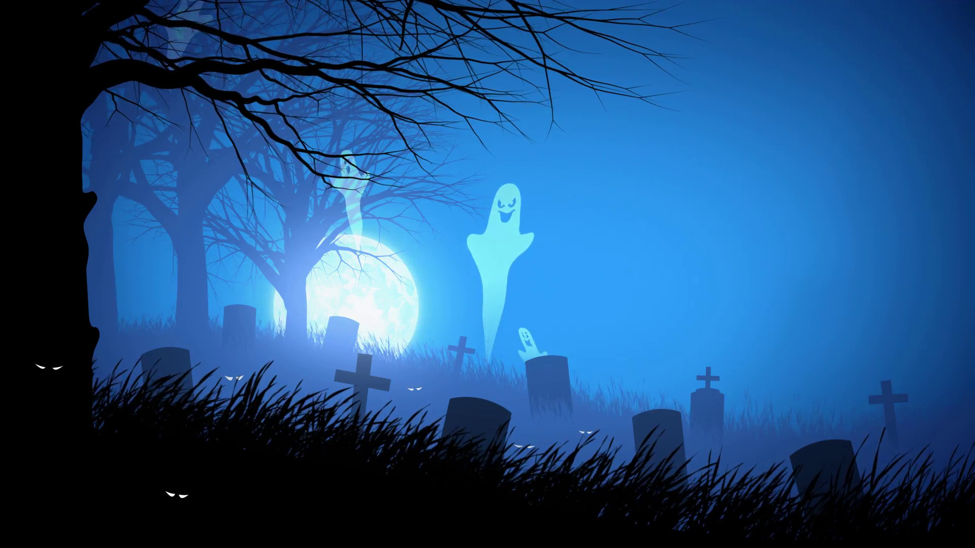 Dual Screen Wallpaper Fall Spooky Halloween Backgrounds 55 Images
