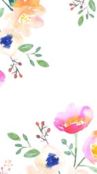 iphone watercolor flower peach backgrounds wallpapers something screensaver getdrawings watercolors wallpaperaccess