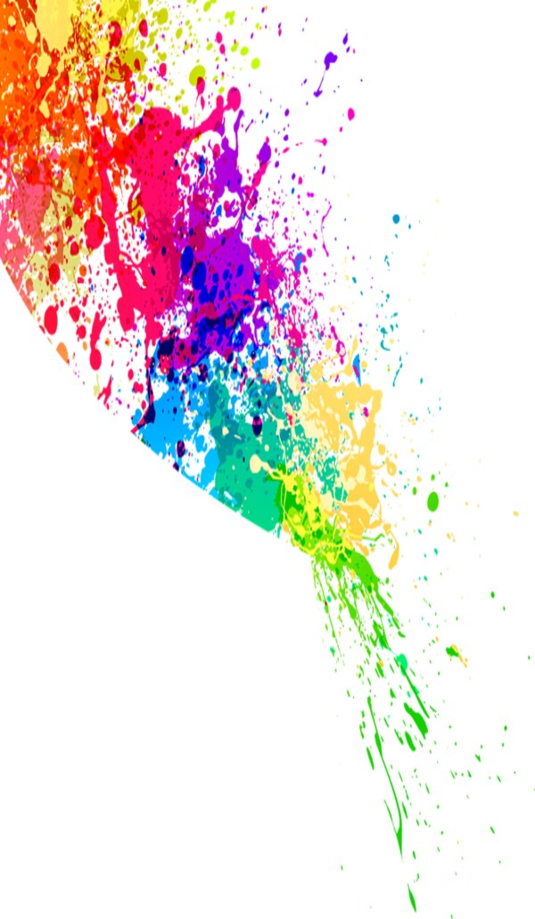 Colorful Paint Splatter Transparent