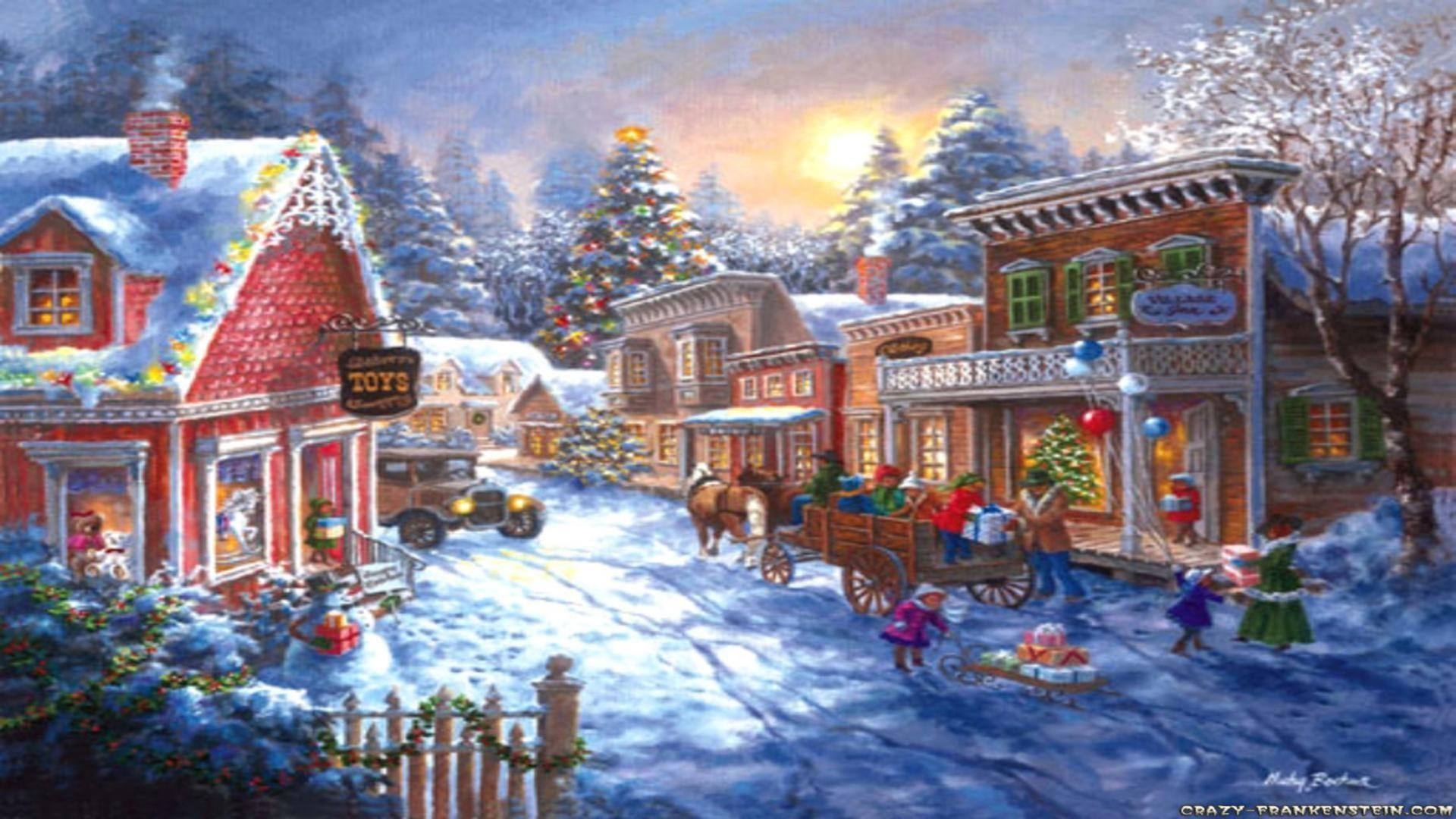 christmas scenery wallpapers 60