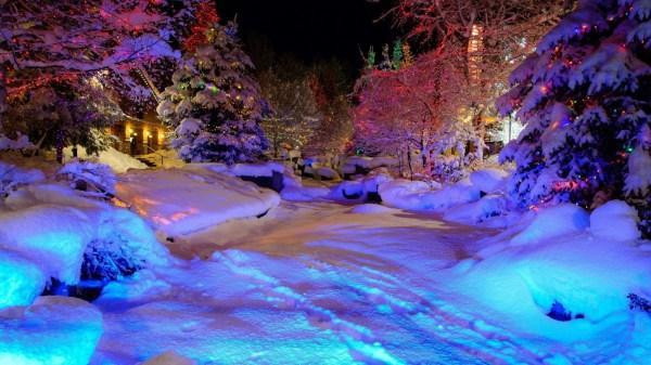 Desktop Wallpaper Snowy Night Scenes 55