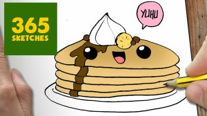 drawing draw easy cartoon pancake step drawings kawaii lessons wallpapers pancakes dibujos memes things background paso doodle getdrawings comida dibujar