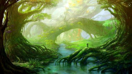High Resolution Fantasy Forest Wallpaper