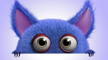 Desktop Cute Monster Wallpaper