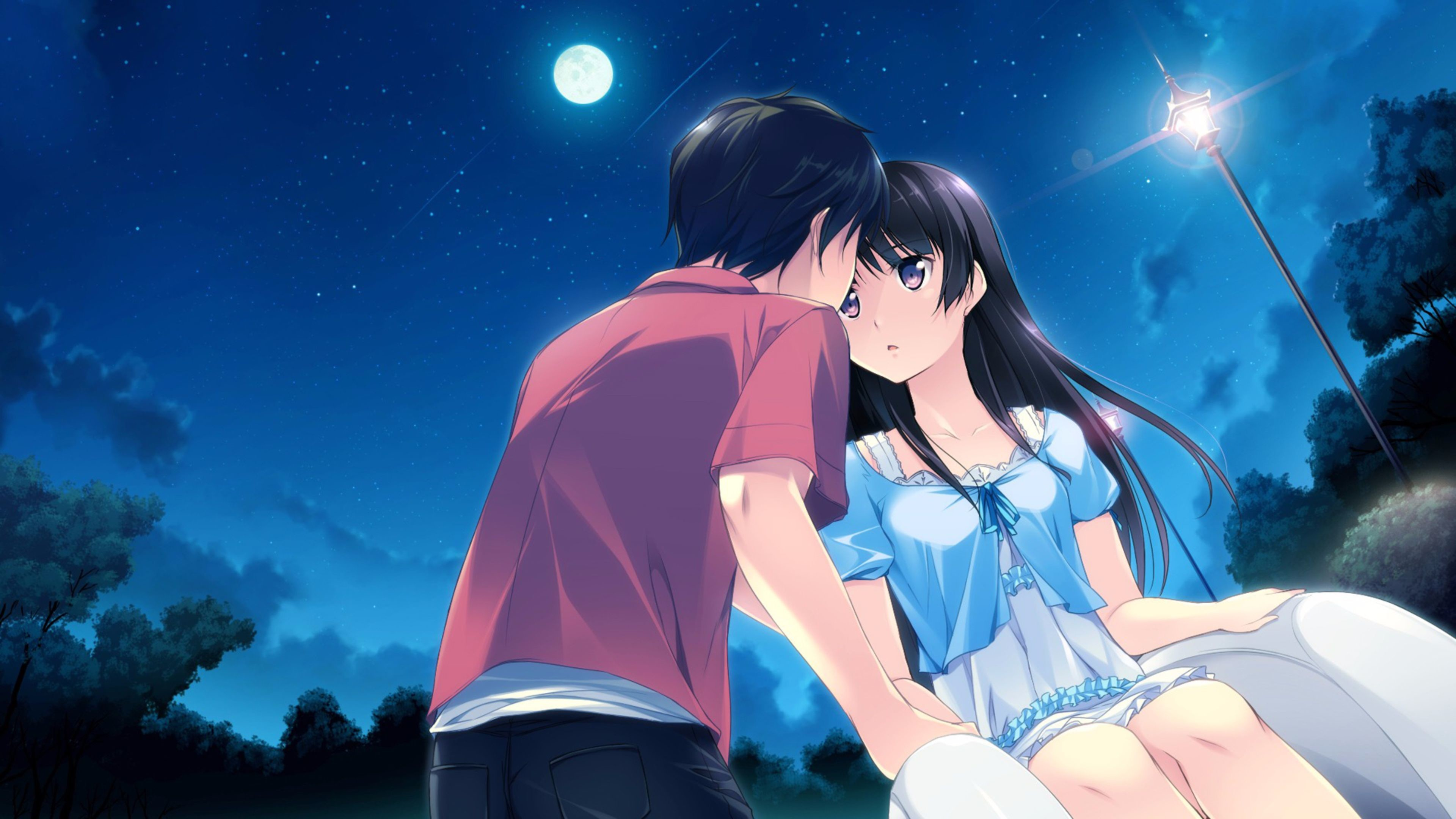 Hd Wallpapers Of Cute Kissing Couples Love Anime Wallpaper 74 Images