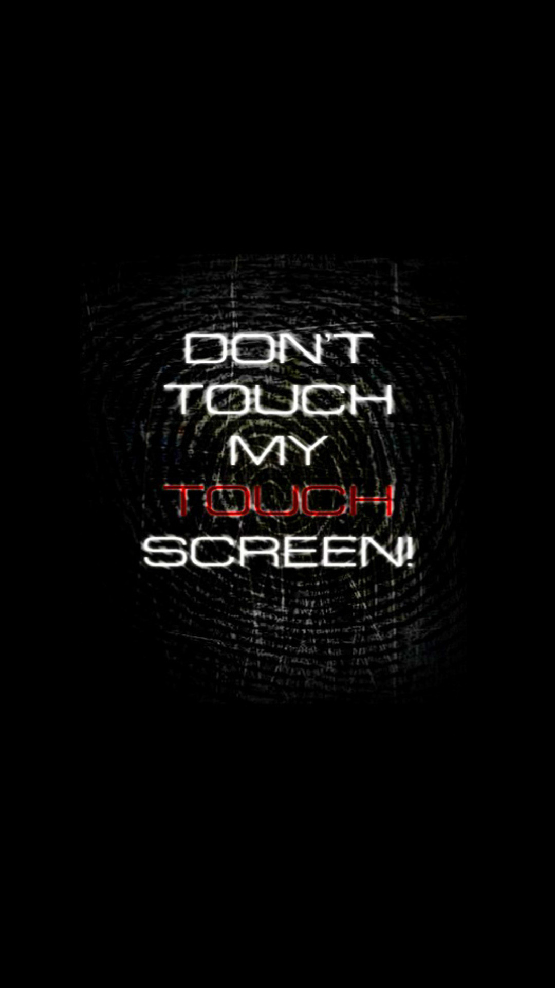 wallpaper dont touch my