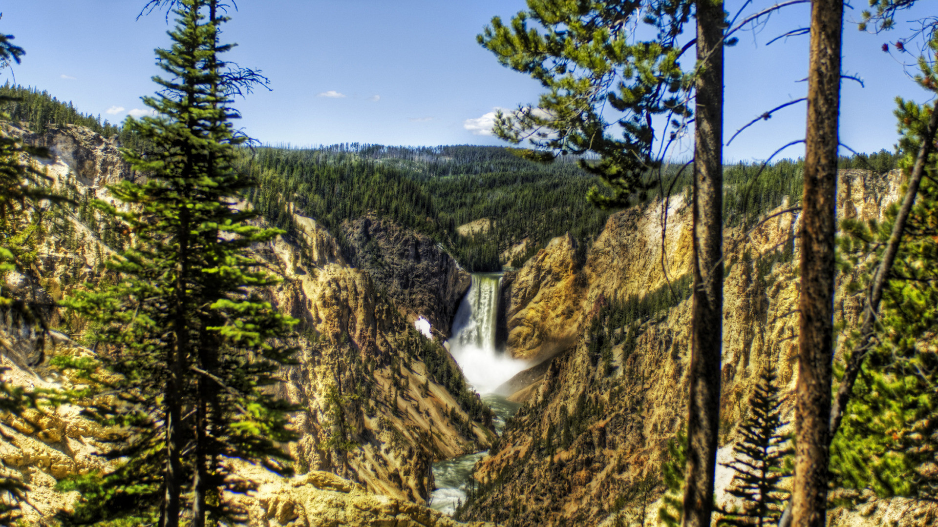 Falls Hd Wallpaper Free Download Yellowstone Wallpaper Widescreen 70 Images