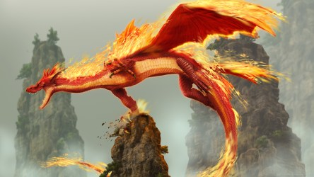 Fire Blue Dragon Wallpaper 2