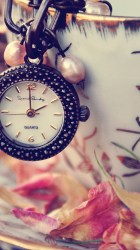 girly iphone wallpapers cute hd clock