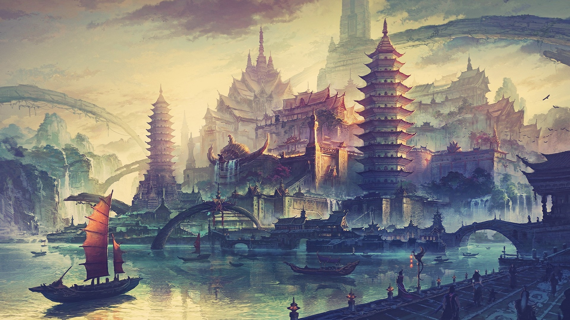 Chinese Dragon Wallpaper Hd Asian Landscape Wallpaper 62 Images