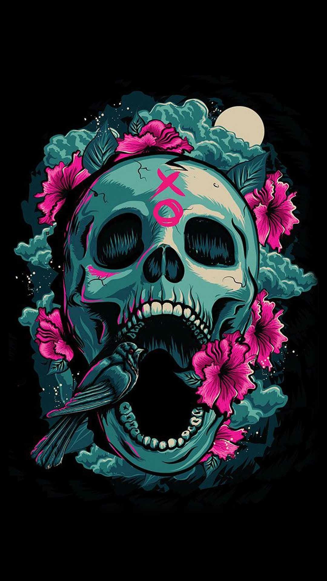 Skullcandy Iphone Wallpaper Sugar Skull Wallpaper For Iphone 62 Images