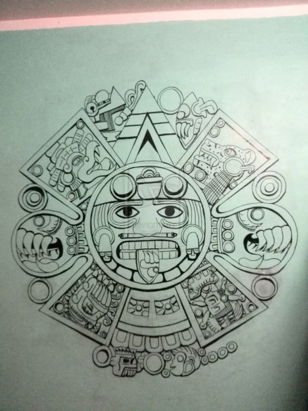 Aztec Calendar Wallpaper 44