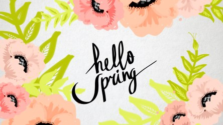 spring backgrounds cute computer phone