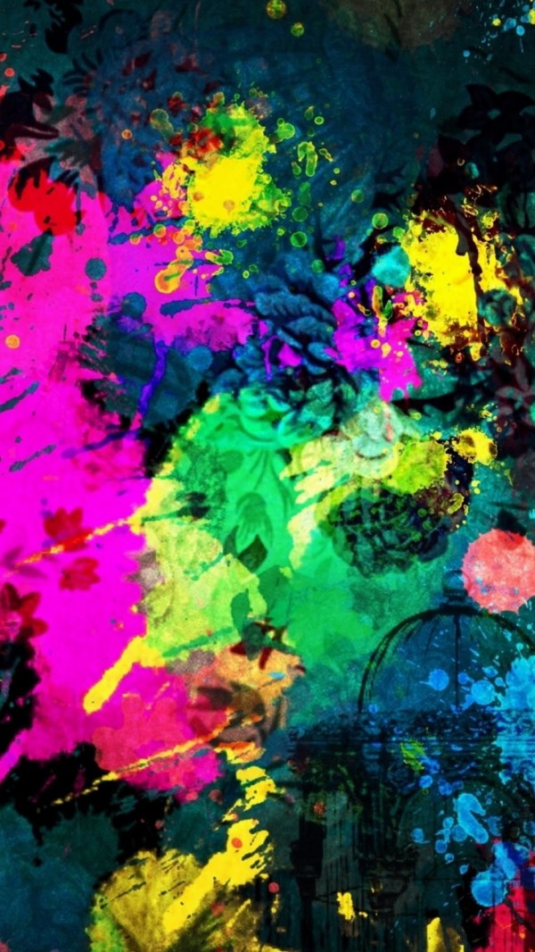 Abstract Colorful Paint Splatter