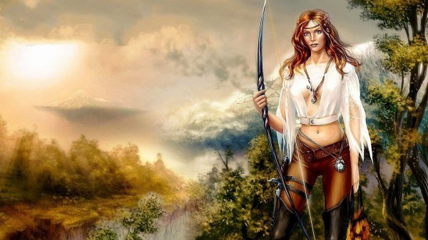 Anime Girl Warrior Wallpaper 77