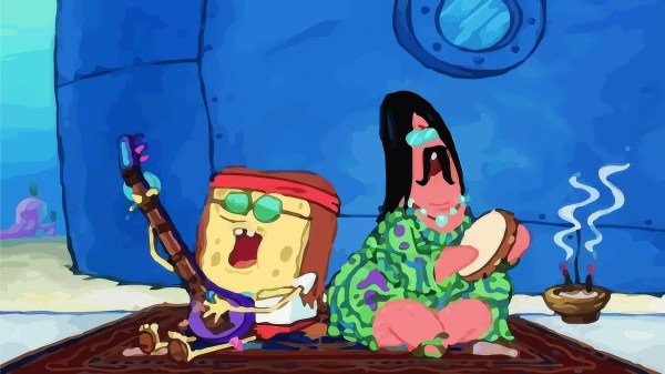 Hippie Spongebob and Patrick