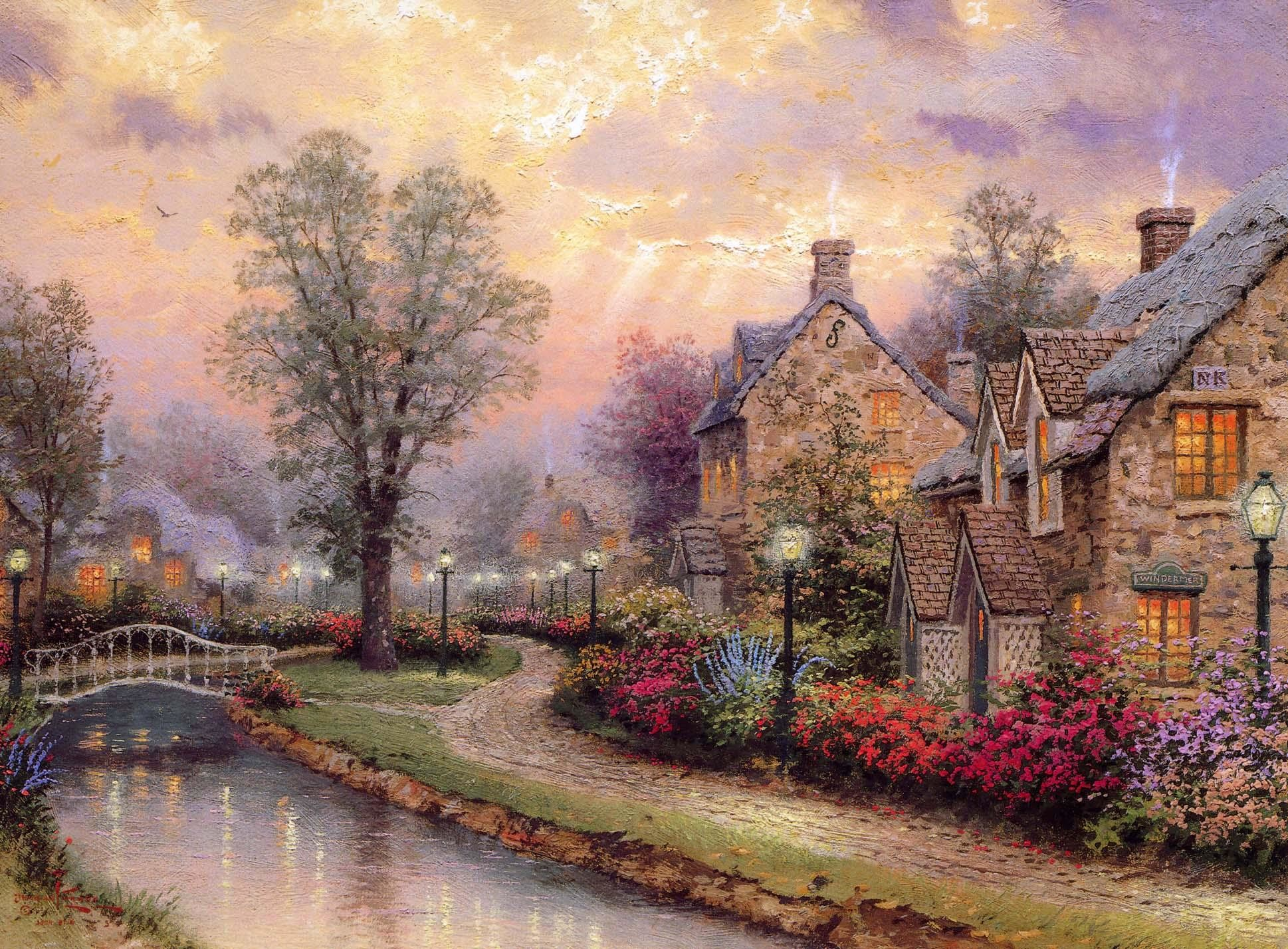 Thomas Kinkade Fall Desktop Wallpaper Thomas Kinkade Christmas Backgrounds 56 Images