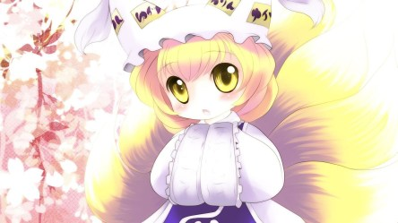 chibi anime cute wallpapers touhou halloween yellow yakumo ran eyes chibis hd bleach 1080 games backgrounds kid adorable parts body