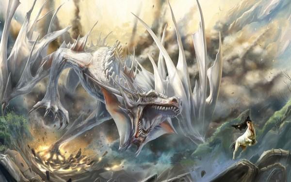 White Dragon Wallpaper Desktop