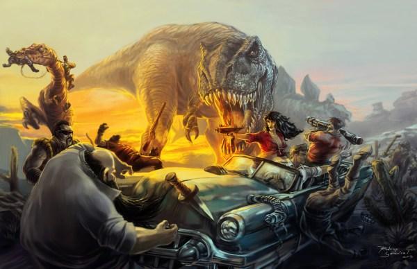 Cadillacs and Dinosaurs Art