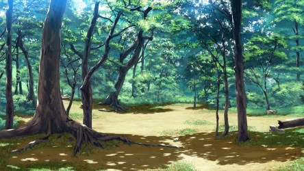 anime forest background