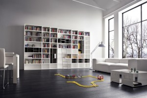 office 3d library 4k interior furniture