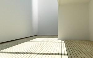 office empty desktop minimalist