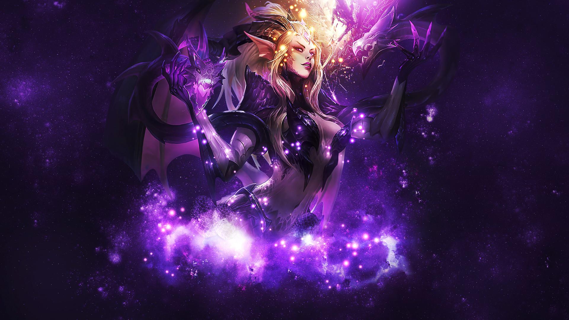 Ecchi Anime Demon Girl Wallpaper Android Purple Dragon Wallpaper 71 Images