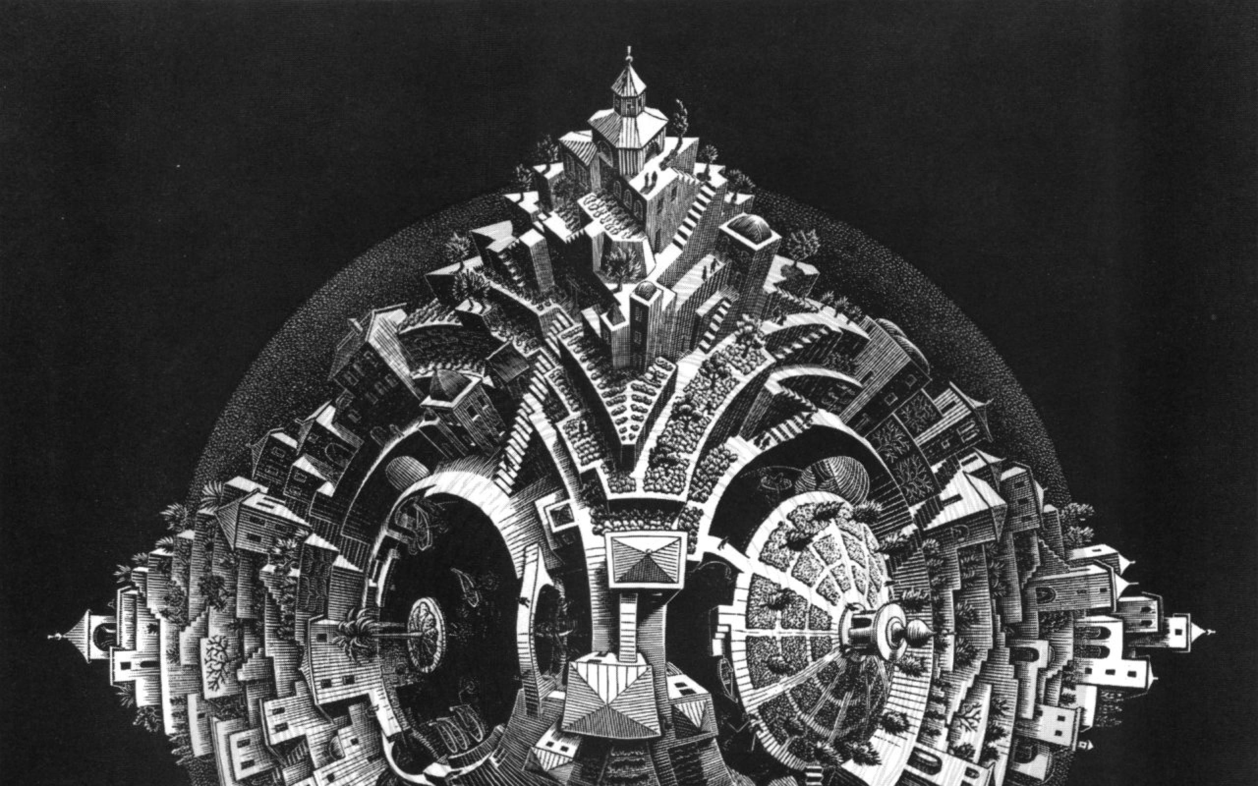 3d Optical Illusion Hd Wallpaper Mc Escher Wallpaper Hd 48 Images