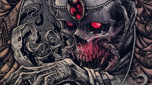 Dark Evil Skull Art