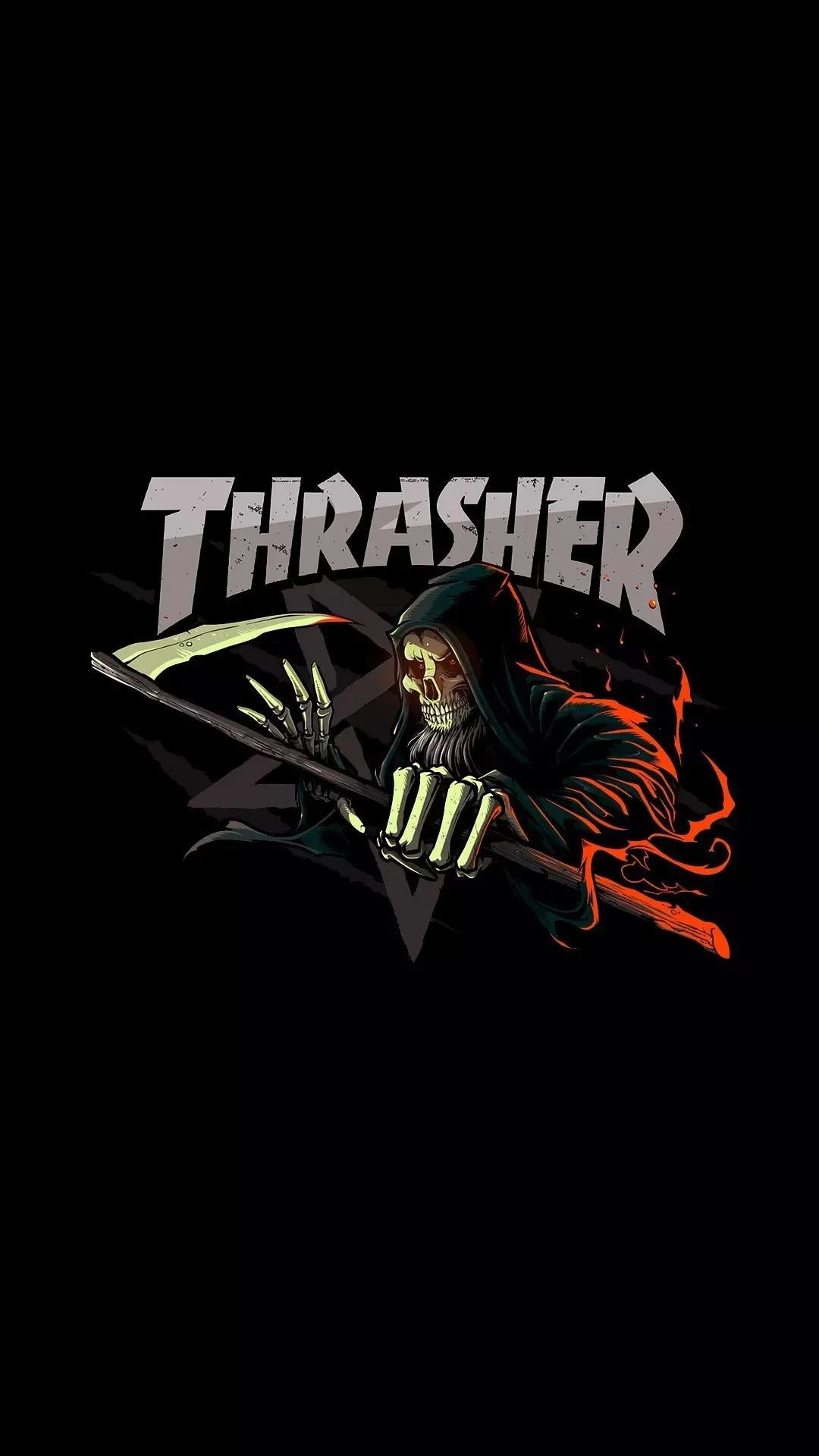 Iphone X Cool Wallpaper Features Thrasher Logo Wallpaper 57 Images