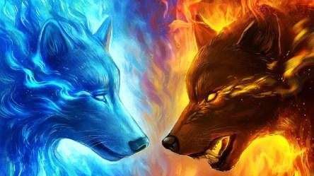 Blue Flame Wallpaper Galaxy Cute Wolf